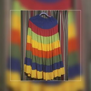 Layered Multicolored Ling Skirt